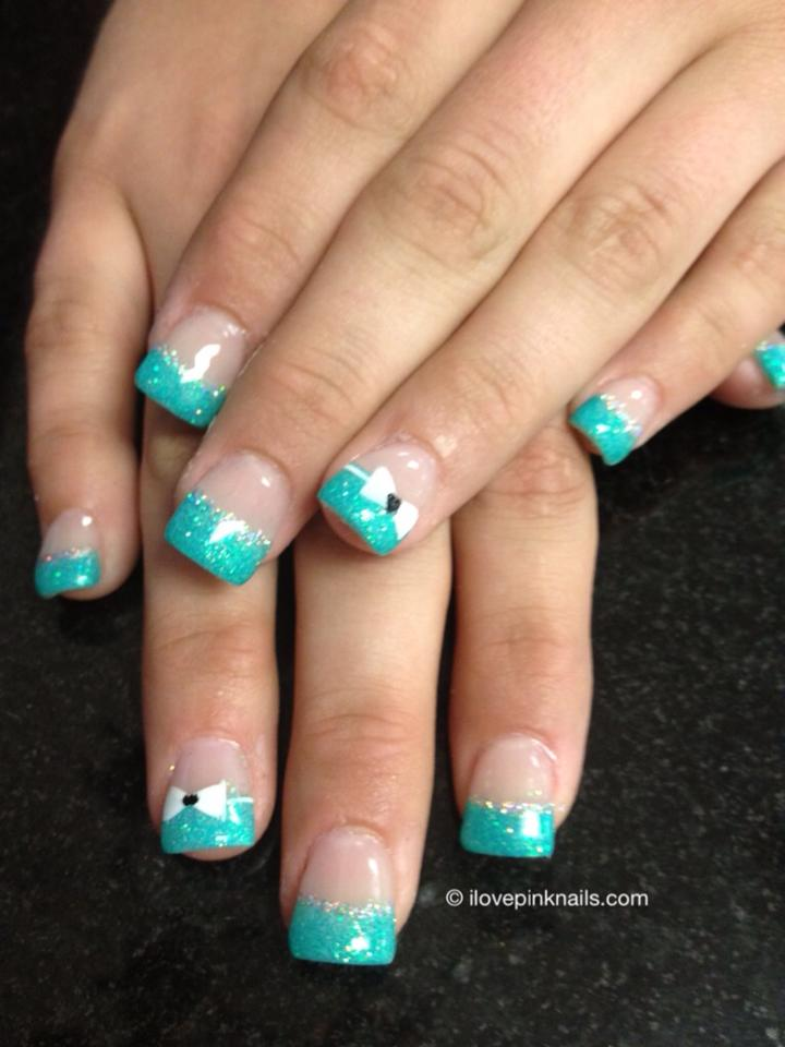 White and turquoise nails nails Pinterest - Nail Art Design Ideas ...