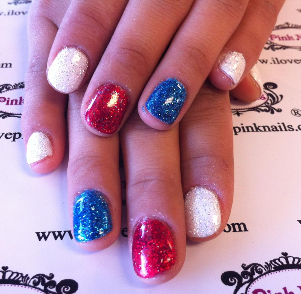 red white and blue ombre nails - nails gallery