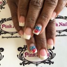 American Flag Heart Nails