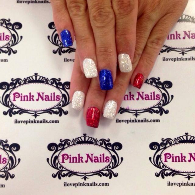 4th of July Rock Star Nails