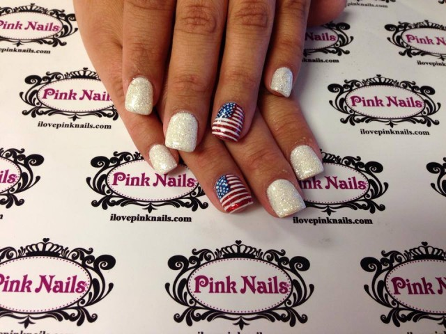 American Flag Rock Star Nails