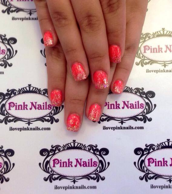 Coral Rock Star Fade Nails