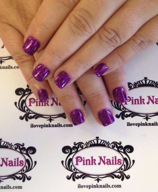 Purple Rock Star Nails