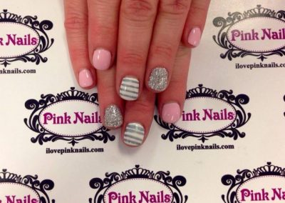 Baby-Pink-and-Solver-Stripe-Nails-640x640